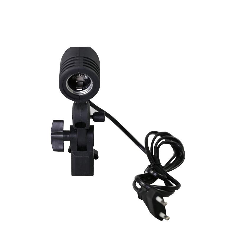 photographic lighting E27 bulb holder socket flash swivel bracket photo light lamp mount US plug or