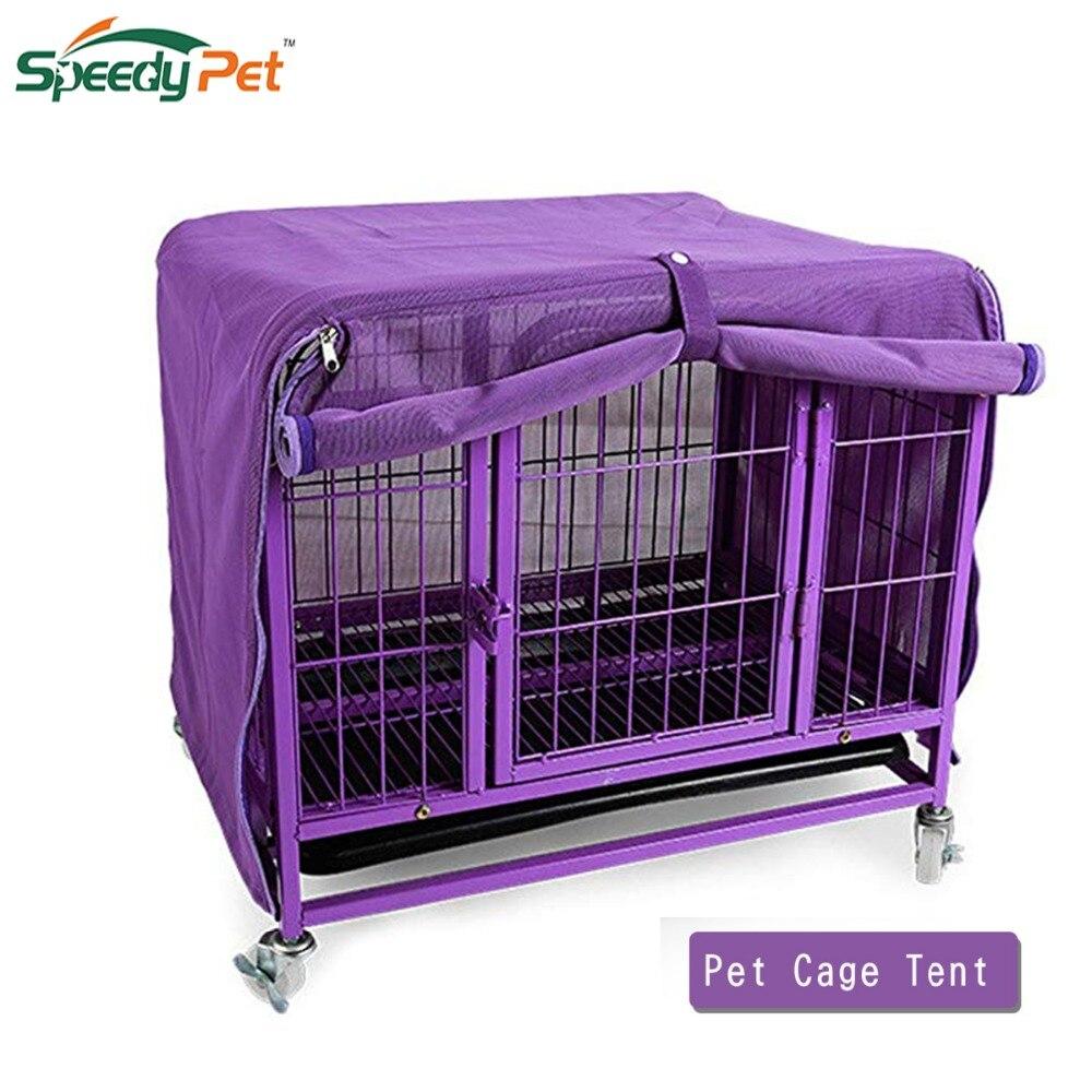 Alta qualidade malha do cão de estimação canil capa respirável gaiola do cão tenda anti mosquito rede de caixa do cão para o fio do cão verão ao ar livre