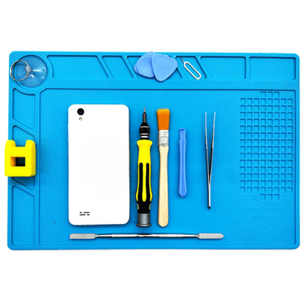 Magnetic Antistatic Mat Silicone Repair Mobile Phone Insulation Heating Cell Maintenance Platform 34 x 23cm