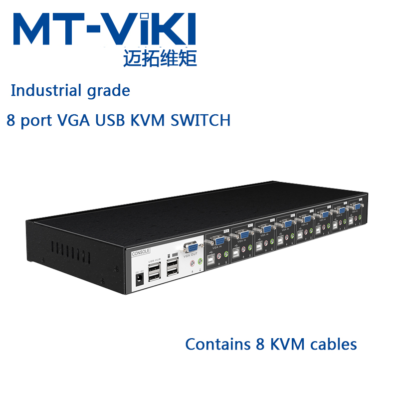 MT-VIKI  8 PORT VGA USB KVM Switch with Audio Stero with USB HUB control 8 computers with KVM cable MT-0801VK