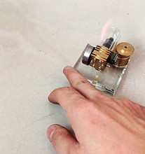 Micro mini metal stirling engine  Free piston model DIY kits science toy Mechanical model toy(vedio on computer page)