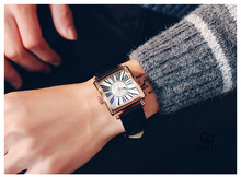 GUOU прямоугольник мужские часы Роман письмо 2018 Новый Европейский Простые Модные и платье titanium Hardlex лучшее качество и производительность