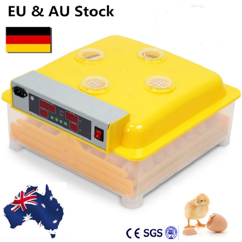 48 Mini Egg Incubator Automatic Poultry Chicken Hatchery incubator brooder CE Certificate small chicken poultry hatchery machines 48 automatic egg incubator 220v hatching for sale