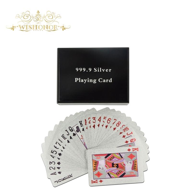 Regalos de empresa para Euro 500 Design Silver Foil Poker, naipe de - Para fiestas y celebraciones - foto 2