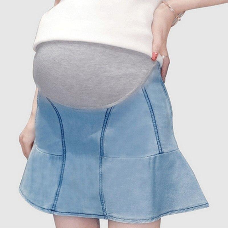 495196f638451 Denim Skirt For Pregnant Women Fashion Mini Trumpet Maternity Women Shorts Skirts  Jeans Summer Autumn Pregnant Women Clothing-in Skirts from Mother & Kids ...