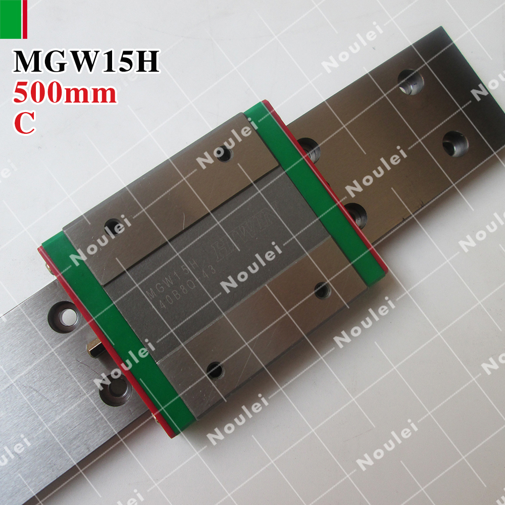 HIWIN MGW15H mini MGW15 slider with 200mm MGWR15 linear guide rails for 3d printer High efficiency CNC parts 15mm MGW 2pcs hiwin hgh25ca linear guide slider block linear rails carrier