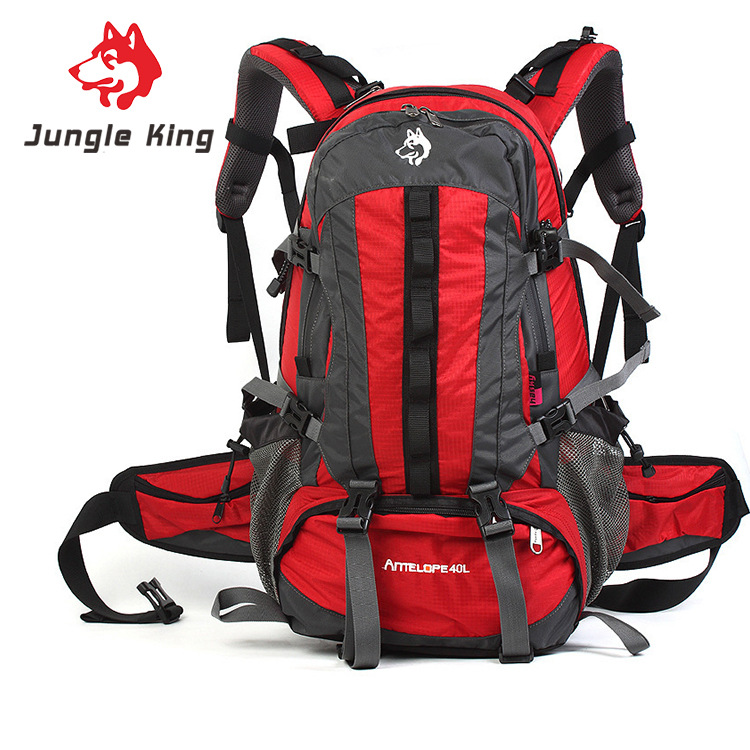 Jungle King authentic outdoor professional mountaineering bags  travel camping mountaineering backpack hot mid size package 40L smoby детская горка king size цвет красный
