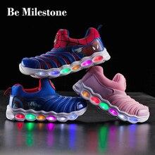 Детская обувь светящаяся детская спортивная обувь 2019 летняя легкая и носимая обувь детская обувь кроссовки