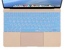 for New MacBook 12 inch Ultra Thin Hebrew Soft Silicone Keyboard Cover Skin, Blue Keyboard Cover for Macbook 12