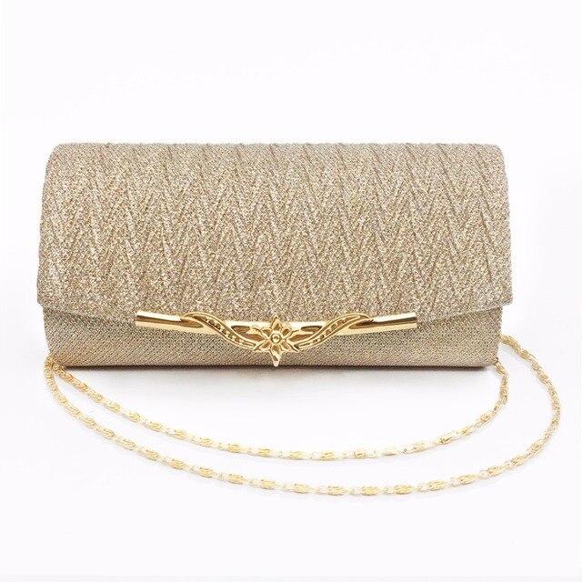 Fashion Women Evening Bag Brand Party Banquet Glitter Bag For Ladies Wedding Clutches Handbag Shoulder Bag Chain Bolsas Mujer 2