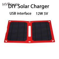 Folding Solar Pane Durable Emergency Power Supply 12W 5V Solar Charging Waterproof Solar Generator Phone Charger