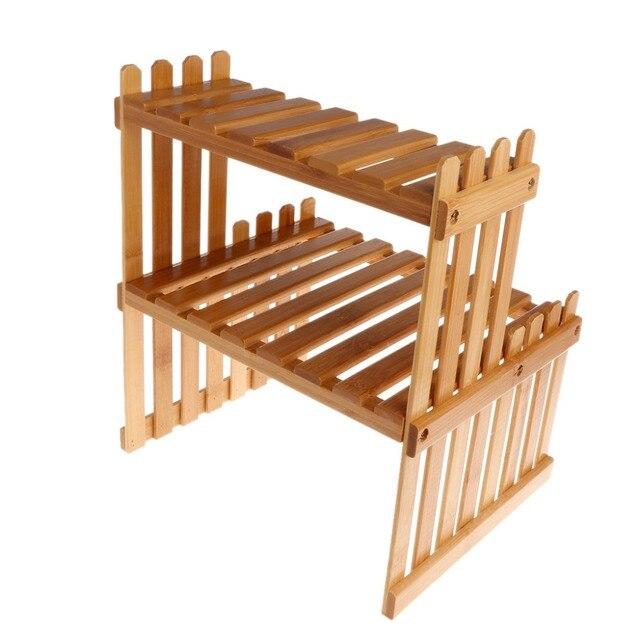 Wooden Garden Plant Shelf