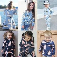 2016  Spring Autumn Winter Kids Rabbit  Sweatshirts T shirt pants dress For Baby Boys Girls Bobo Choses Nununu Tops