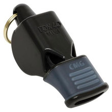 Fox 40 Mini CMG compact sized whistle with the addition of patented Cushioned Mouth Grip.