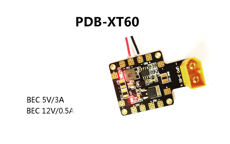 1pc PDB-XT60 Power Distribution Board With Amass XT60 Plug Dual BEC 5V/3A 12V/0.5A Linear 4 Layer Board PCB For Aircraft matek hubosd eco xt60 power distribution board hub osd pdb current sensor w dual bec 5v