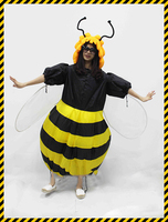 Women S Bumble Bee Costume Inflatable Fancy Dress Outfit Purim Halloween Holidays Party Bar Club Cosplay