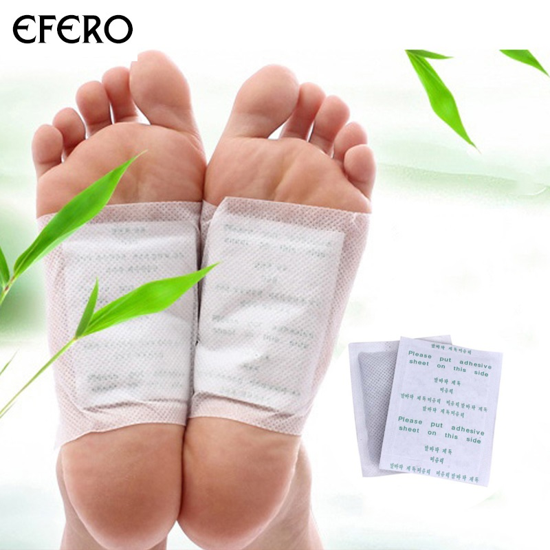 Efero 10pcs Cleansing Detox Foot Patch Pads For Feet Care Body Toxins Feet Slimming Cleansing Massage Mats Foot Detox Patches