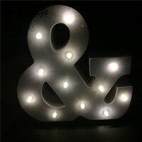 Chicinlife 1 шт. деревянные письмо A-Z свет годовщина свадьбы День Святого Валентина партия украшение стола подарок на день рождения