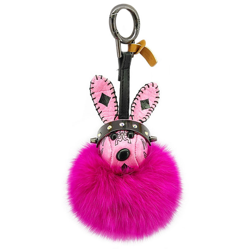 Cartoon Rabbit Pokemon Key Chains Fox Hair Fluffy Balls Keyring Bags Pendants Decoration For Girls Jewelry Ornaments Kids Toys