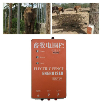 Electric Fence 5KM with Alarm Energizer Charger Controller Animal Sheep Horse Cattle Poultry Farm Fencing Shepherd