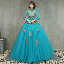 2aef4f6216 Buy peacock blue prom dress and get free shipping on AliExpress.com