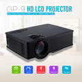 GP - 9 Portable Mini Home Business Education Engineering Theater 2000 Lumens 1920 X 1080 Pixels Multimedia HD LCD Projector