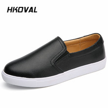 HKOVAL Women Shoes Sneaker Loafers Flats Spring Autumn Genuine Leather Shoes Female Casual Flat Woman Leather Black Footware muyang mie mie women flats 2017 fashion spring casual flat shoes woman genuine leather shoes female soft loafers women shoes
