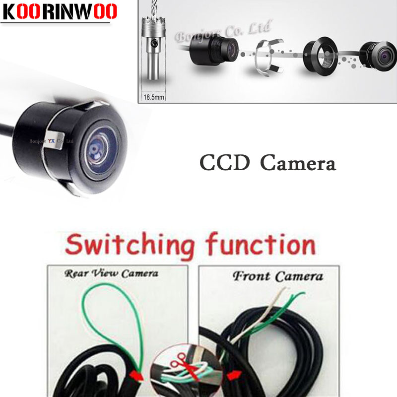 Koorinwoo CCD Car parking Backup Camera / Front Camera Switching Reversing Vehicle Rear view Form Camera Parking Assist Sytem yaopei auto car reversing rear view backup camera parking assist oem vcb n501b vcbn501b