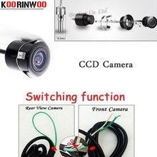 Câmera de estacionamento koorinwoo ccd, câmera frontal/câmera traseira de comutação do veículo, forma de visão reversiva, assistente de estacionamento