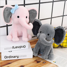 25cm Cute Pink Elephant Doll Soft Plush Toys Stuffed Animal Plush Doll Toy Baby Soothe Doll Children Toys Gift стоимость