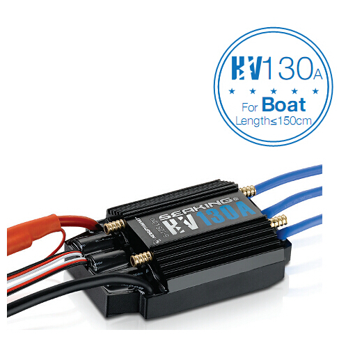 Hobbywing SeaKing HV V3 Waterproof 130A No BEC 5-12S Lipo Brushless ESC for RC Racing Boat F18584 f18585 hobbywing seaking pro v3 160a waterproof 2 6s lipo 4a bec speed controller brushless esc for rc racing boat
