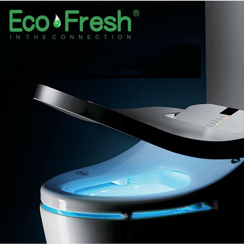 EcoFresh sedile Intelligente wc Washlet Elettrico Bidet copertura bidet intelligente di calore pulito asciugatura Massaggio di cura per il bambino donna il vecchio