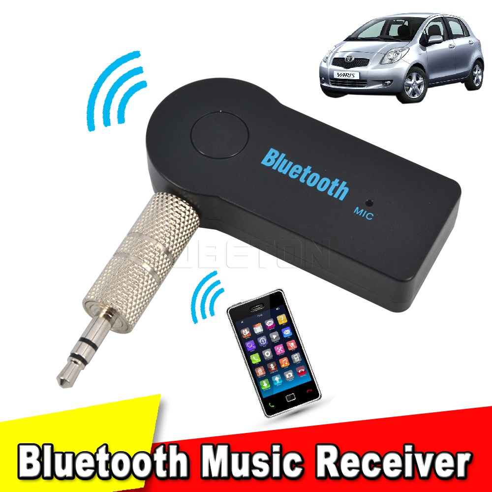 Bluetooth 3.0 Wireless 3.5mm Stereo Audio Music Receiver Car AUX Speaker Adapter