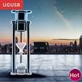 Reloj de arena reloj de arena de cristal de regalo de moda de Metal unidad flash Usb Pen drive Usb de memoria de disco stick logotipo Personalizado 2 GB 4 GB 8 GB 16 GB 32 GB