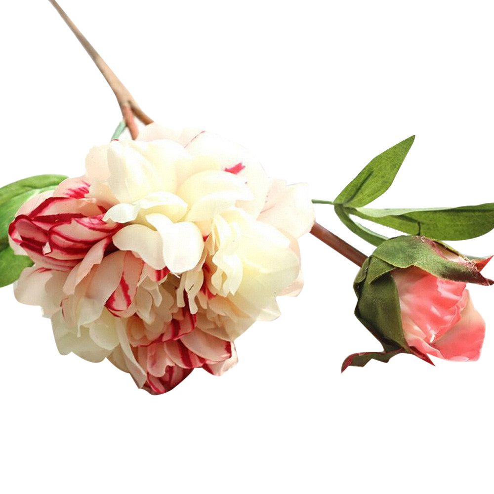 Online get cheap peonies silk flowers aliexpress alibaba group bouquet artificial fake peony silk flower wedding party home garden decor wedding car decoration artificial potted dhlflorist Images