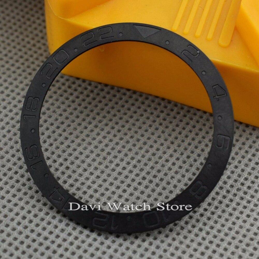 38mm Bliger Schwarz Gmt Keramik LÜnette Einsatz Fit 40mm Uhr Fall Clear-Cut-Textur Uhrenzubehör