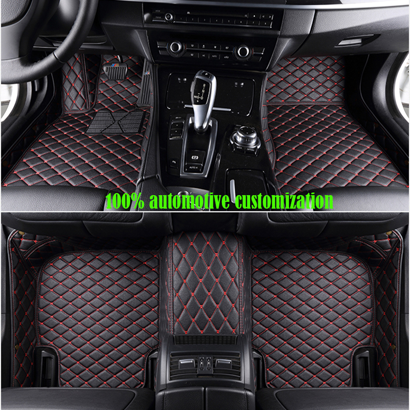 Custom Car Floor Mats For Peugeot 307 Sw 308 107 206 207 301  407 408 508 2008 4008 5008 Car Mats Auto Accessories(China)