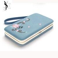 Yousijia моды кошелек коробка Женский 3D цветок держателей карт сотовый телефон сумка Чехол карман подарки для Для женщин клатч