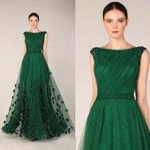 Изумрудно-зеленый, на выпускной вечерние платья с вырезом «Лодочка» платье из тюля с коротким рукавом с цветочным принтом вечерние платья