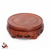 South America Rosewood Jade Vase Rotation Solid Wood Carving Handicraft Mahogany Base Household Act The Role