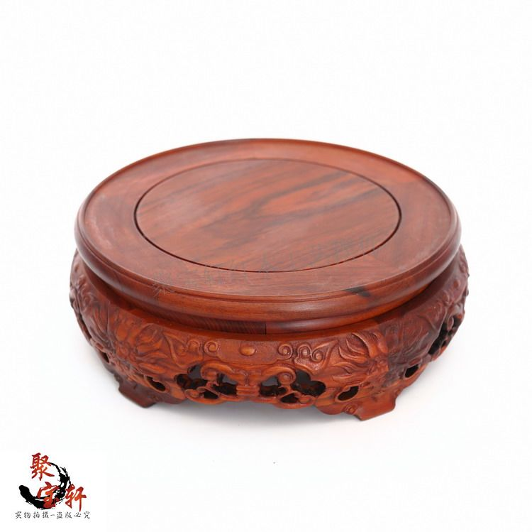 South America rosewood jade vase rotation solid wood carving handicraft mahogany base household act the role ofing is tasted wood carving rosewood household act the role ofing is tasted of buddha vase basin handicraft furnishing articles on sale