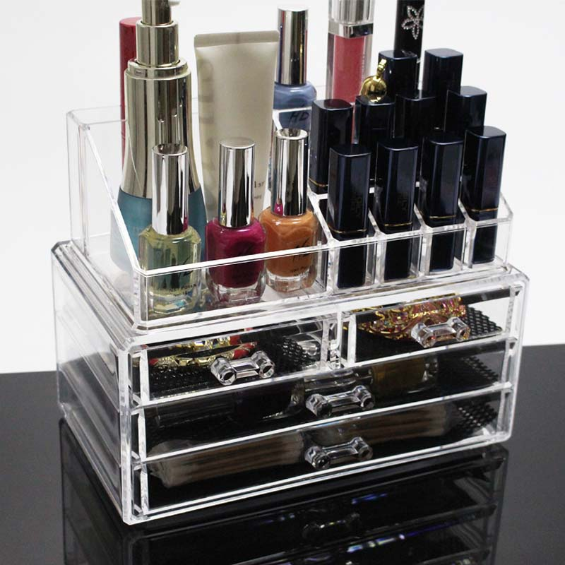 Makeup Organizer Storage Box Acrylic Make Up Organizer Cosmetic Organizer Makeup Storage Drawers Organizer Organiser