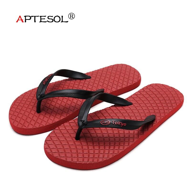 0db0fe7e76ca APTESOL Men Summer Fashion EVA Slippers Lightweight Cool Water Flip Flops  Men s Non-slip Casual Flat Outdoor Beach Shoe for Male