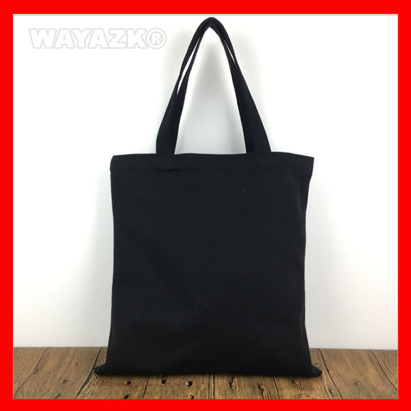 (200Pcs/Lot) Wholesale Blank Plain Canvas Tote Cotton Bag