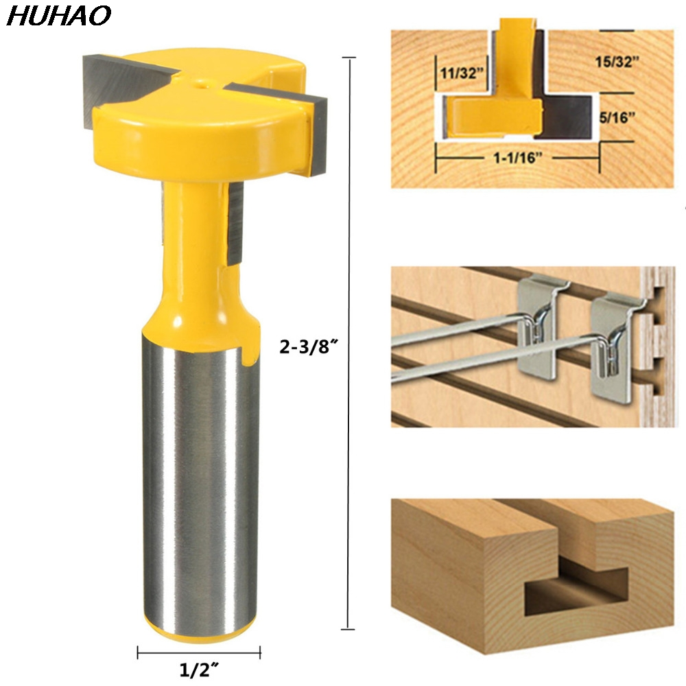 T-Slot & T-Track Slotting Router Bit - 1/2'' Shank For Woodworking Chisel Cutter Wholesale Price 1pc 1 2 inch shank straight t slot t track slotting router bit carbide woodworking chisel milling cutter tool