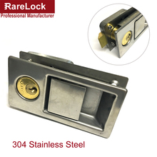 Rarelock MS528 304 Stainless Door Handle Lock for Storage-box Women Wardrobe Jewelry Box Motor Boat Yacht Electric Cabinet DIY i