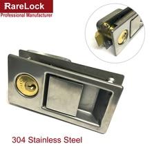 Rarelock MS528 304 Stainless Door Handle Lock for Storage-box Women Wardrobe Jewelry Box Motor Boat Yacht Electric Cabinet DIY i недорого