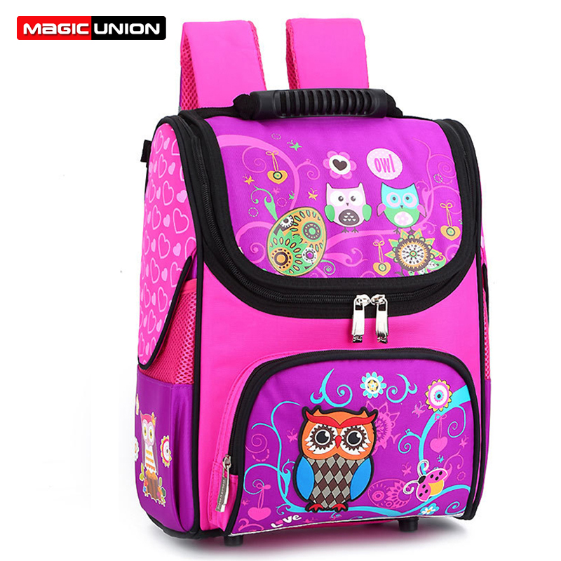 MAGIC UNION Kids Orthopedic Backpack Wear-resistant Children School Bags Light Waterproof 7-11 Year-old Child Shoulder Backpack