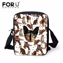 FORUDESIGNS Casual Girl Children School Bags Mini 3D Cats An