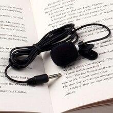 Hands-Free Мини Портативный Универсальный 3,5 мм проводной воротник клип лацкальный лавальерный микрофон для ПК ноутбук громче динамик